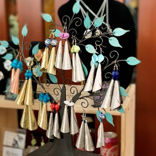 Handmade earings for sale at Portland indigenous market