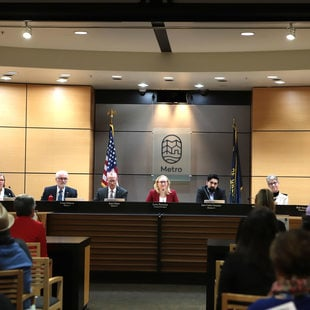 Metro Council and members of the community at the Feb. 13 public hearing on supportive housing.