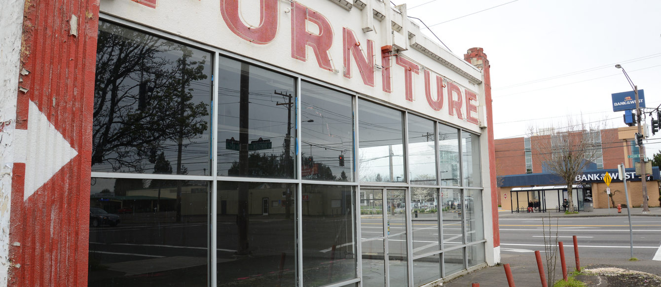 Furniture store at 82nd and Division