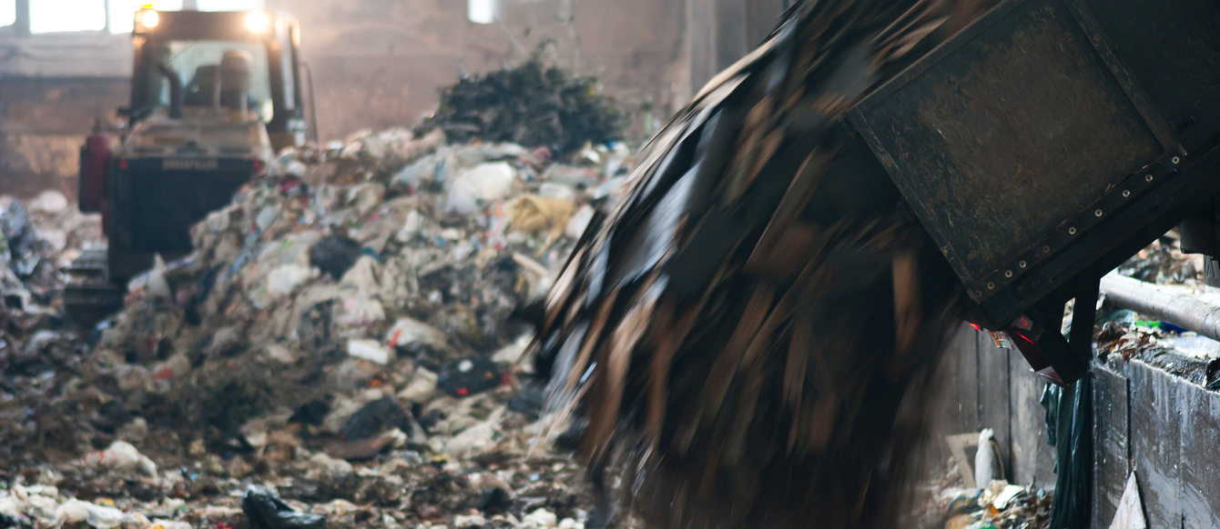 photo of garbage at a transfer station