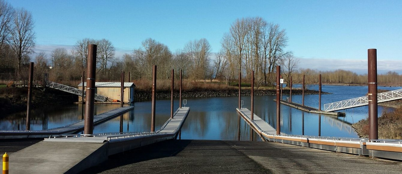 photo of new docks at Chinook Landing Marine Park