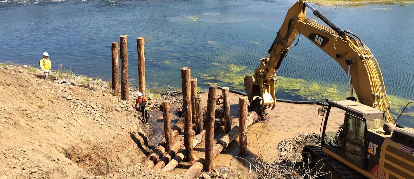 photo of restoration work at River Island Natural Area
