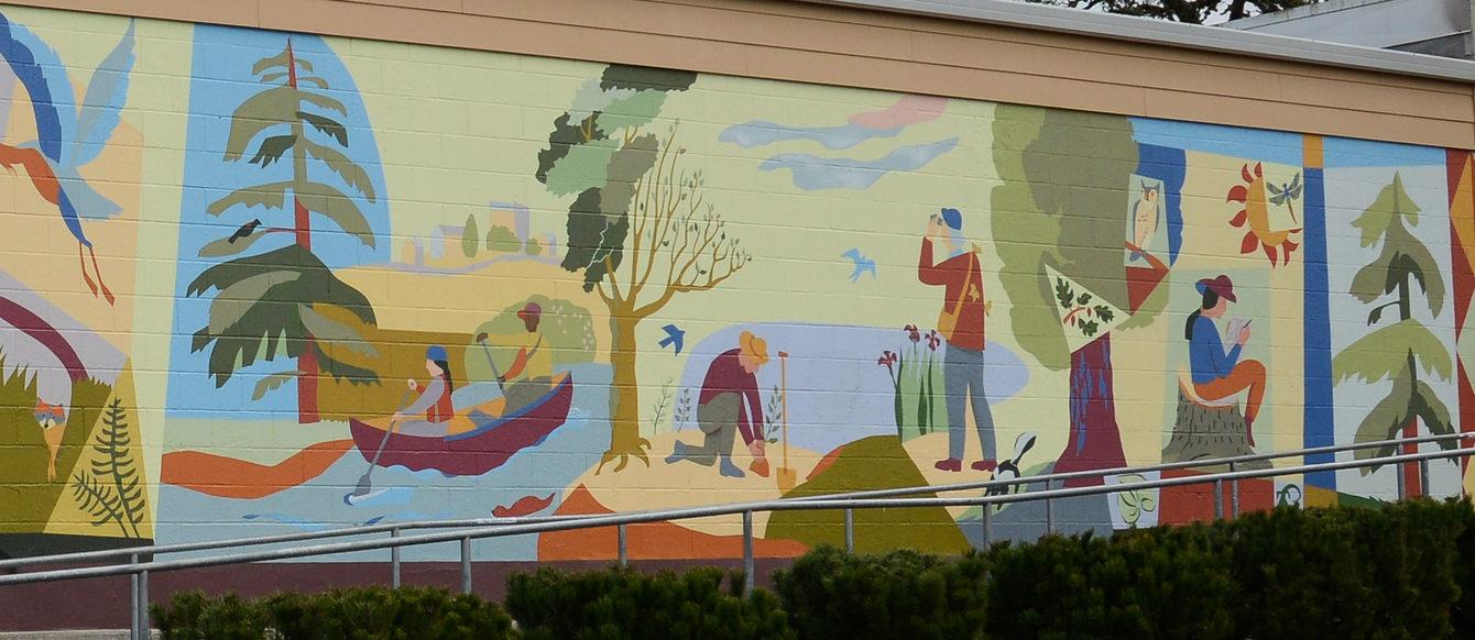 Tigard Transit Center mural
