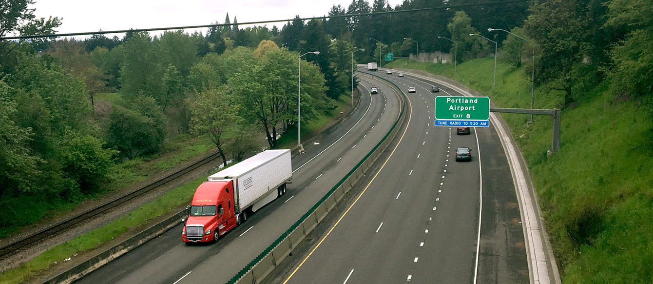 Interstate 84 in Gateway in Portland