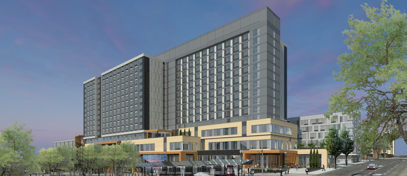 July 2016 rendering of the Hyatt Regency Portland at the Oregon Convention Center