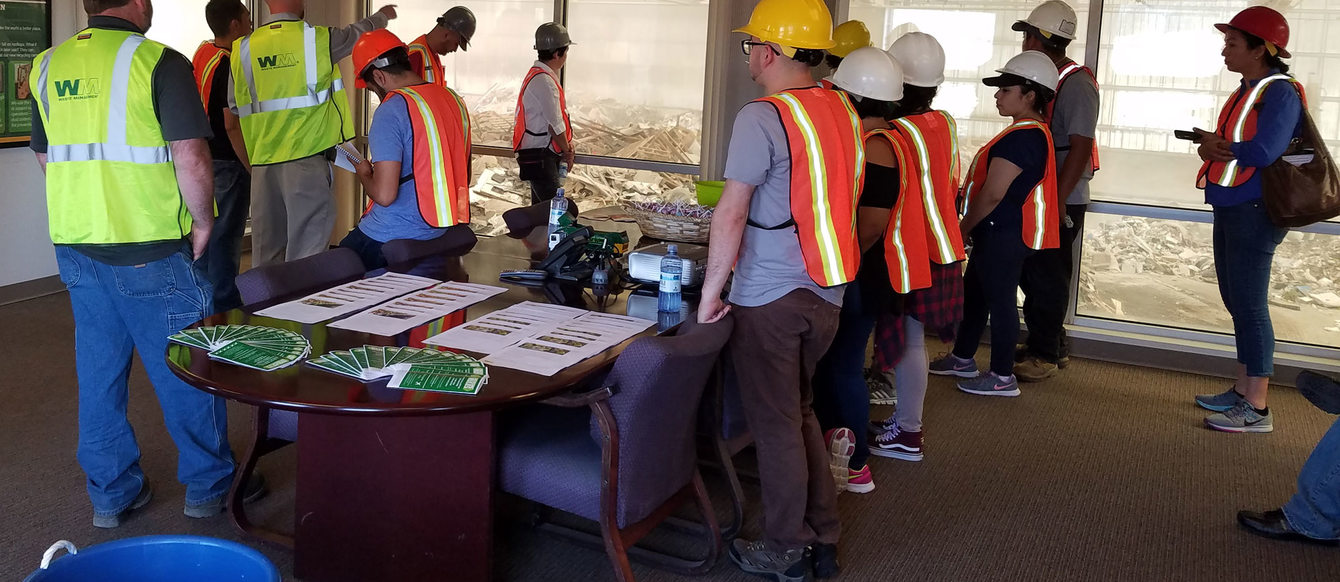 Photo of tour participants at Tualatin Valley Waste Recovery facilities