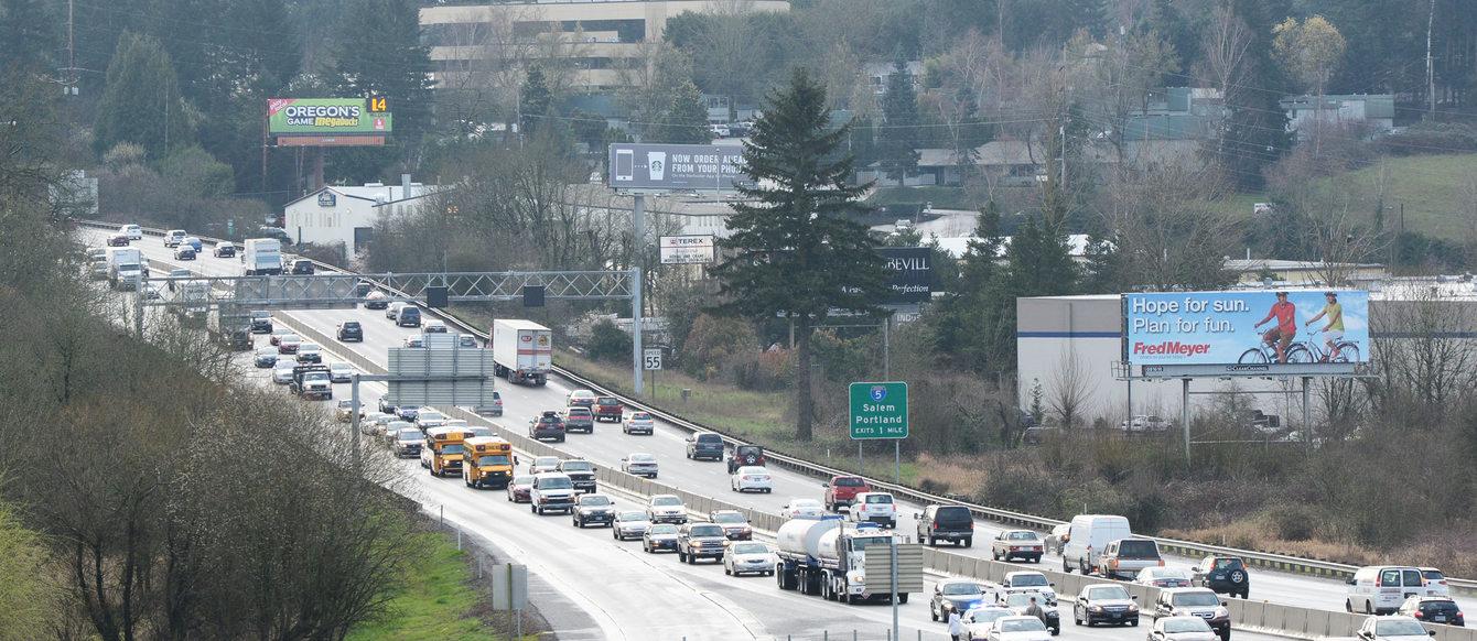 photo of traffic on I-5