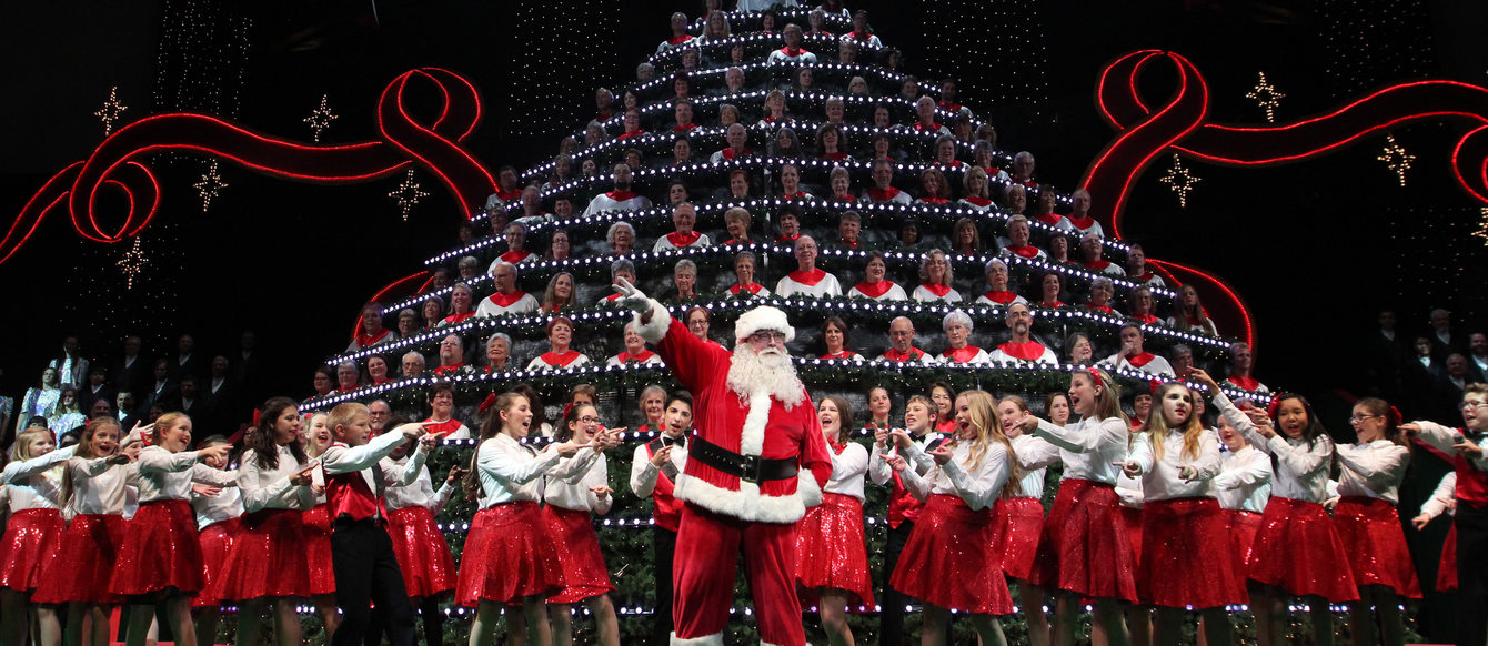 Promotional photo of the members of the Portland Singing Christmas Tree