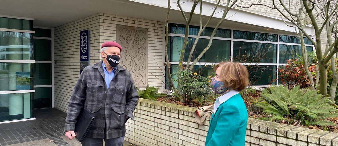 Metro Councilors Gerritt Rosenthal and Mary Nolan