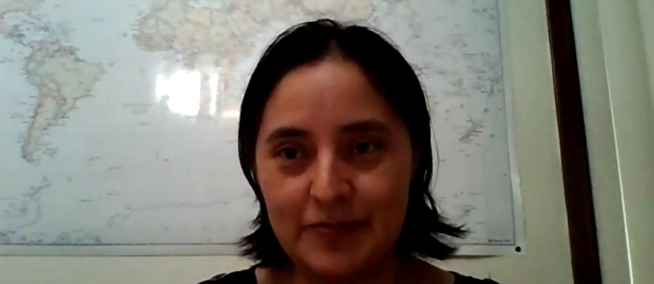 Milka Méndez, miembro del Grupo Asesor Comunitario, testifica en la sesión del Consejo de Metro