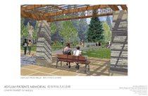 Memorial design: asylum garden perspective
