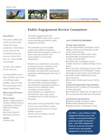 Public Engagement Review Committee factsheet