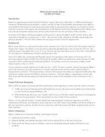 Metro South Operations RFP Fact Sheet