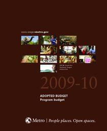 FY 2009-10 Adopted Budget - Program Budget
