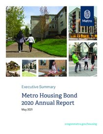 Metro affordable housing bond 2020 annual report executive summary and oversight committee memo