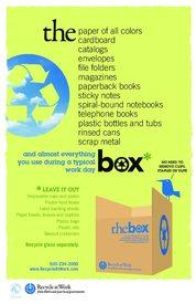 "The box: 11""x17"""
