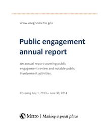 Public engagement annual report 2013-2014