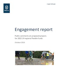Engagement report: 2022-24 regional flexible funding