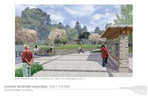 Memorial design: entry perspective