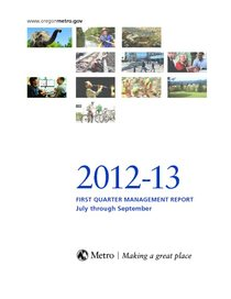 2012-13 quarter 1 management report