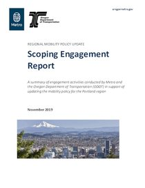 Scoping engagement report