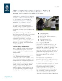 Supportive housing services: fact sheet