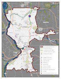 Mapa de la comunidad Metro South