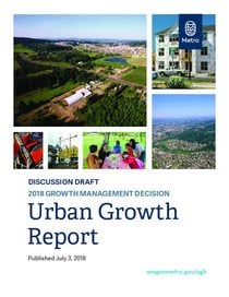 2018 Urban Growth Report - discussion draft