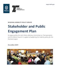 Regional mobility policy stakeholder public engagement plan