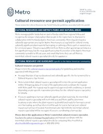 Cultural resource use permit application