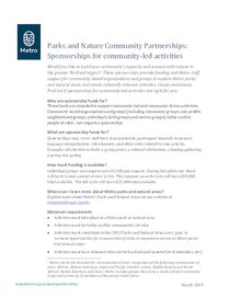 2019 Community-led programming sponsorship factsheet
