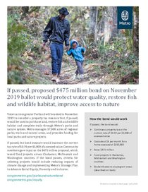 Parks and nature bond measure fact sheet