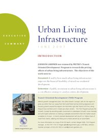 Urban Living Infrastructure executive summary