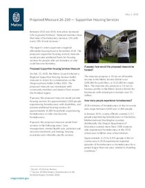 Measure 26-210: Supportive housing services fact sheet