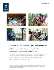 Handbook for by-invitation capacity building sponsorships