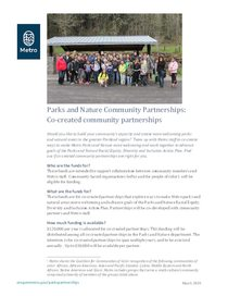 2019 Co-created community partnerships factsheet