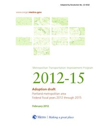 2012-15 Metropolitan Transportation Improvement Program adoption draft