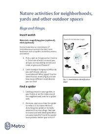 Nature activities for neighborhoods - bugs