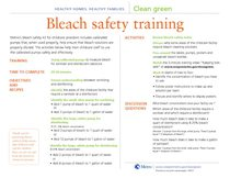 Bleach safety training curriculum outline