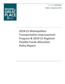 Adopted 2018-21 MTIP/2019-21 regional flexible fund policy