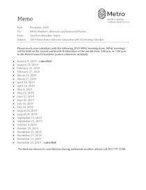 2019 MPAC meeting dates