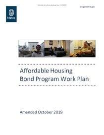 Metro affordable housing bond program work plan