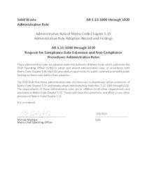 Metro Code Administrative Rules 5.15 1000-5000