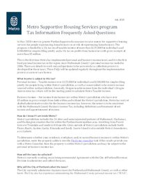 Supportive housing services: tax collection information
