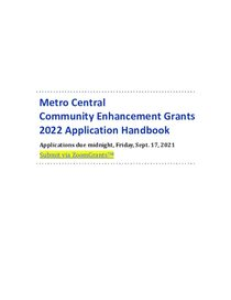 2022 Applicant and Grantee Handbook