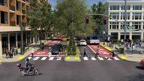 Community boulevard rendering