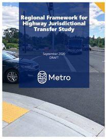 Regional Framework for Highway Jurisdictional Transfer Study