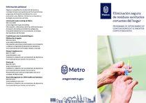 Eliminación segura de residuos sanitarios cortantes del hogar – versión en español