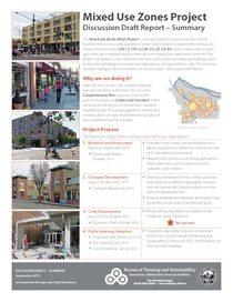 Appendix E1: Mixed Use Zone proposal summary