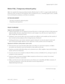 FAQs: Temporary telework policy